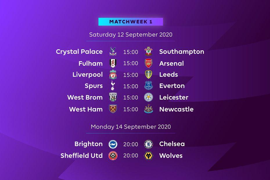 Calendrier Premier League 2021 Premier League : le calendrier intégral de la saison 2020 2021